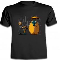 Totoro - Camiseta Manga...